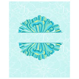 Decorative element border. Abstract invitation card. Royalty Free Stock Photography