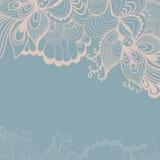 Decorative element border. Abstract invitation card. Template wa Stock Photo