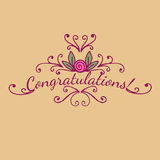 Decorative element congratulations card. Vector Royalty Free Stock Images