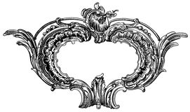 Decorative element of the facade of a historic royalty free illustration