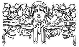 Decorative element of the facade of a historic Stock Photo