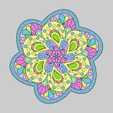 Decorative Element Isolated Mandala of Pastel Colors. Stock Photos
