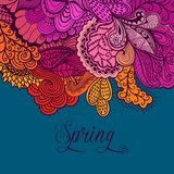 Decorative element, lace border. Spring lettering. Template wa Royalty Free Stock Photo