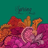 Decorative element, lace border. Spring lettering. Template wa Stock Image