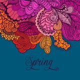 Decorative element, lace border. Spring lettering. Template wa Royalty Free Stock Images