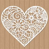 Decorative element for laser cutting. Template for a wedding envelope. For laser cutting from paper, metal, wood. Seamless pattern vector illustration
