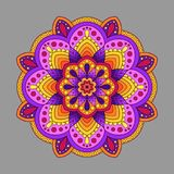 Decorative Element Mandala of Warm Colors. Colored  Oriental Cir Royalty Free Stock Photos