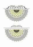 Decorative element rosette mandala Stock Photography
