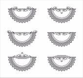 Decorative element rosette mandala pattern Stock Image
