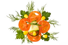 Decorative element with tomato Stock Photo