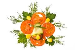 Decorative element with tomato Stock Photo