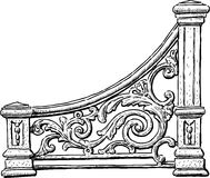 The decorative element of a vintage bench Stock Photo