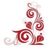 Decorative element on a white background. Abstract decorative flower element against a white background Stock Photo