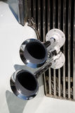 Decorative element on the white limousine. Decorative element on the car Stock Photography