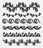 Decorative elements. A decorative vintage elements set Royalty Free Stock Images