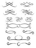 Decorative Elements 3. Artistic/Fancy/Ornate Decorations to add to the page as graphic elements stock illustration