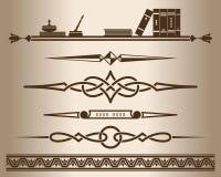 Decorative elements - books. Stock Photos