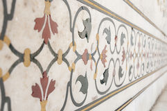 Decorative elements created by applying paint, stucco, stone inlays and carvings Royalty Free Stock Photo