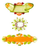 Decorative elements from cucumber Royalty Free Stock Image