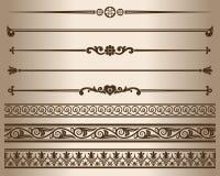 Decorative elements. Royalty Free Stock Image