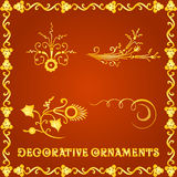 Decorative elements for designs Stock Photography
