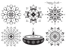 Decorative elements for diwali Design Royalty Free Stock Photography