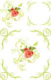 Decorative elements and frames with roses Stock Image