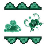 Decorative elements green Stock Images