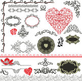 Decorative elements - Happy Valentines Style Royalty Free Stock Photo
