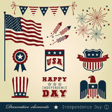 Decorative elements Independence Day 1 Royalty Free Stock Photo