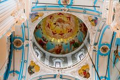Decorative elements inside the Russian Orthodox Church royalty free stock images
