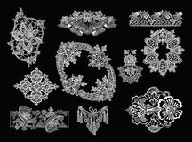Decorative Elements - Lace Style. 10 Lace Decorative Elements Stock Photography