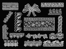Decorative Elements - Lace Style Stock Photos