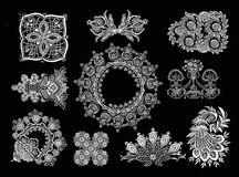 Decorative Elements - Lace Style. 10 Lace Decorative Elements Royalty Free Stock Photography