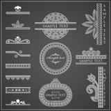 Decorative Elements - Lines & Borders. 14 Borders & Lines Decorative Elements Royalty Free Stock Images