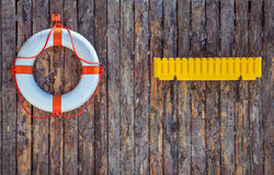 Decorative elements on the marine theme on the Royalty Free Stock Image