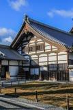 Decorative elements of Ninomaru Palace façade. 2013.01.04, Kyoto, Japan. Decorative elements of Ninomaru Palace façade. Ancient architecture of Japan stock photo