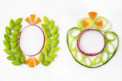 Decorative elements from onion Royalty Free Stock Images