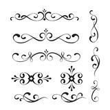 Decorative elements and ornaments Royalty Free Stock Photos