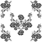 Decorative elements pattern design. On white background Royalty Free Illustration