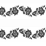 Decorative elements pattern design Stock Images