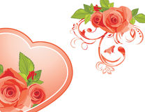 Decorative elements with roses Royalty Free Stock Photos