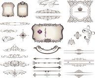 Decorative elements - Royal Style. 25 Royal Decorative Elements Royalty Free Stock Photo