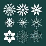 Decorative elements set Stock Images