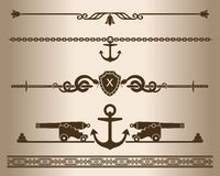 Decorative elements - Ship gun. Stock Photos