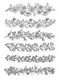 Decorative elements. Six lines of decorative elements Royalty Free Stock Photos