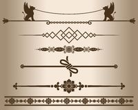 Decorative elements - sphinx. Royalty Free Stock Images