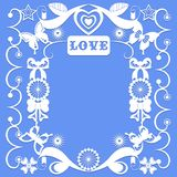 Decorative elements in the style of carving paper vector Royalty Free Stock Image