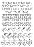 Decorative elements. Ten lines of elements decoratives Stock Images
