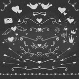 Decorative elements for Valentine Day Stock Images